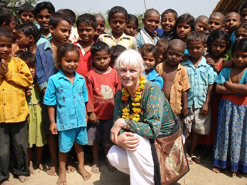 2010: Visiting one of the schools near Motihari in Bihar